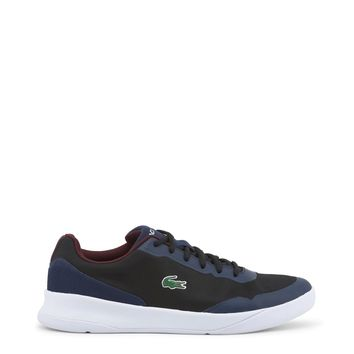 "Men's Black & Navy Blue ""Lacoste LT-SPIRIT"" Lace Athletic Shoes/Sneakers"