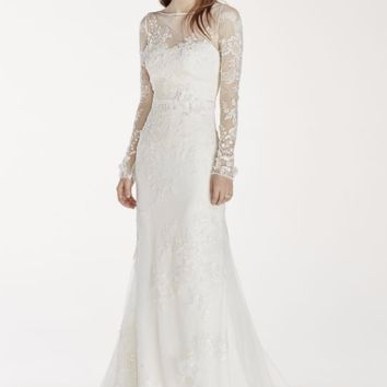 Melissa Sweet Long Sleeved Lace Wedding Dress - Davids Bridal