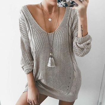Women's sweater autumn and winter sweater