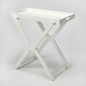Edna White Tray Table
