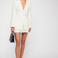 Power Play Linen Suit