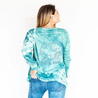 Green Tie-Dye Thermal Henley