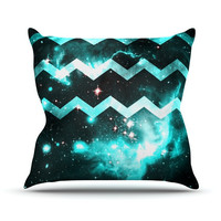 "Alveron ""Aqua Galaxy Chevron"" Throw Pillow"