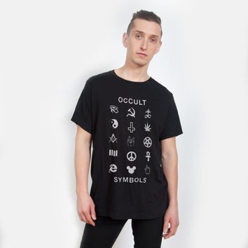 Occult Symbols Black T-shirt - UNISEX sizes S, M, L, XL