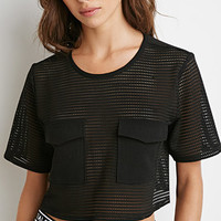 Mesh Pocket Crop Top