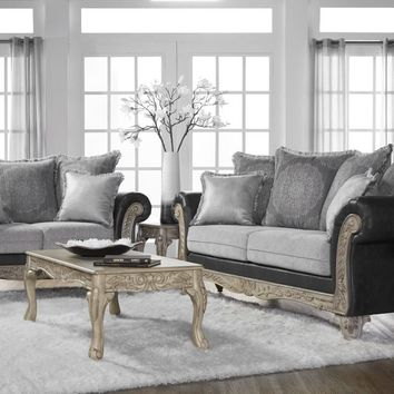 Trotter Charcoal Sofa and Loveseat