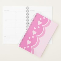 Pink Hearts Planner