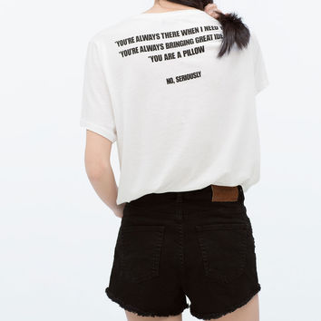 JEWEL TEXT T-SHIRT