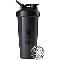 BlenderBottle Classic Loop Top Shaker Bottle, All Black, 32-Ounce Loop Top