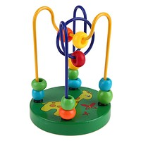 Wooden Toys Cartoon Animal Chassis Bead Children's Hand Eye Coordination Toy Educational Toys For Children Baby Boy Girl Gift