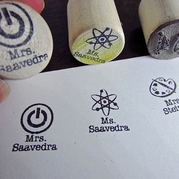 School Teacher Stamp for passes, classroom book sets, notes home, yearbook signing