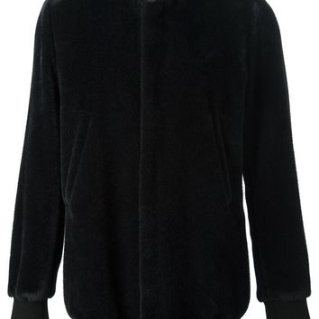 Paul Smith fleece texture bomber jacket