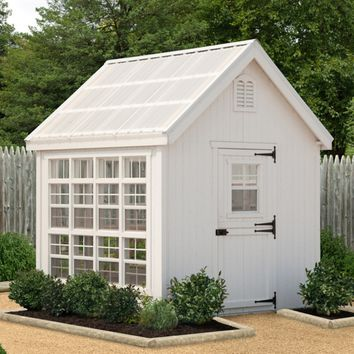 Little Cottage 8 x 8 ft. Colonial Gable Greenhouse with Optional Floor Kit | Hayneedle
