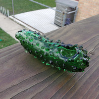 Chicago Style Pickle Glass Tobacco Pipe