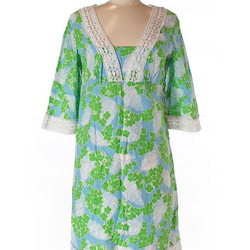 Lilly Pulitzer Green Floral Tunic Dress Size 6