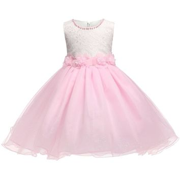 Sequin Cute Pink Evening Gown for Birthday Party Girls Clothes Kids Dresses Children's Formal Costume Princess Girl Tutu Dress