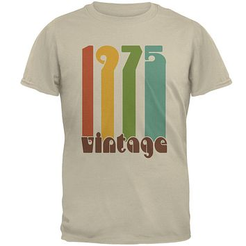 Milestone Birthday 1975 70's Color Bar Mens T Shirt