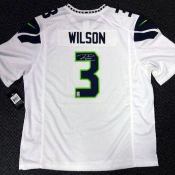 ESBONY Russell Wilson Signed Autographed Seattle Seahawks Football Jersey (Russell Wilson Authenticated)