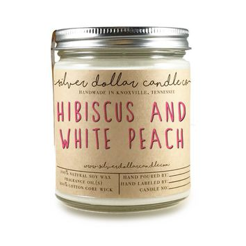 Hibiscus & White Peach - 8oz Soy Candle