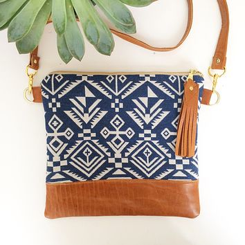 Indigo tribal crossbody