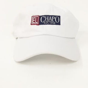 The Guzman Dad Hat in White