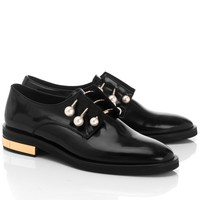 Black Leather Derby Fernanda Shoes