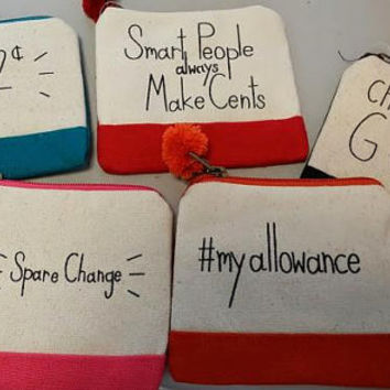 Personalized Change Purse, Custom Change Purse, Funny Change Purse Sayings