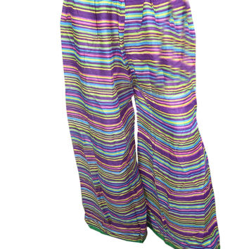 Women's Yoga Pants Hippe Boho Cotton Voile Palazzo Gaucho