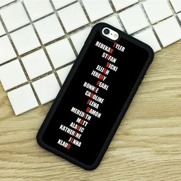 Soft TPU Phone Cases For iPhone 6 6S 7 Plus 5 5S 5C SE 4 4S ipod touch 4 5 6 Cover Shell The Vampire Diaries Printed