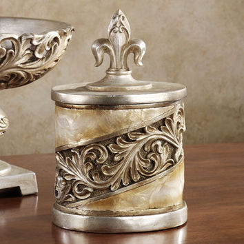 Appollonia Shell Decorative Covered Jar