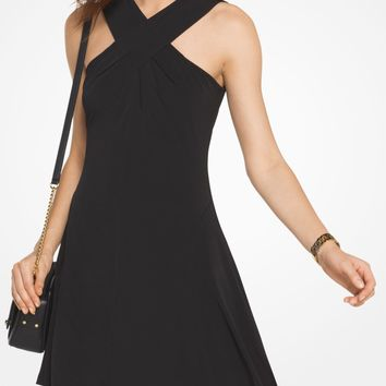 Cross-Neck Jersey Dress | Michael Kors