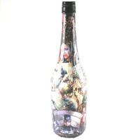 Avengers-inspired Decoupage Wine Bottle