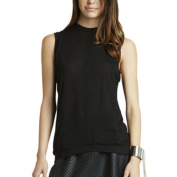 Low Armhole Tank in Black - BCBGeneration