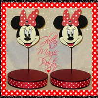 Minnie Mouse Red - Lollipops or Cakepops Stands - Minnie Mouse Party Decoration - SET OF 2 STANDS