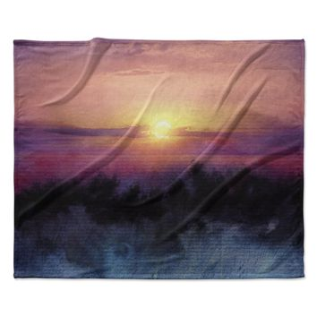 "Viviana Gonzalez ""Calling The Sun IV "" Pink Yellow Fleece Throw Blanket"