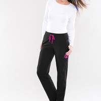 Smitten Scrub Pants Black - Hottie S201002