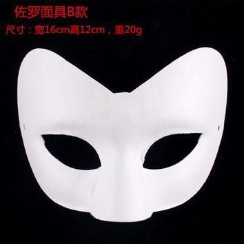 Lot 10 Unpainted Blank White Masquerade Party Half Mask