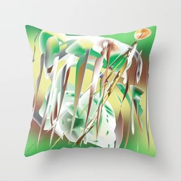 Windy Cold Day in Winter Throw Pillow by Distortion Art