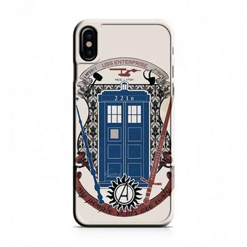 crest of the knight of fandom a lot of fandoms iPhone X Case