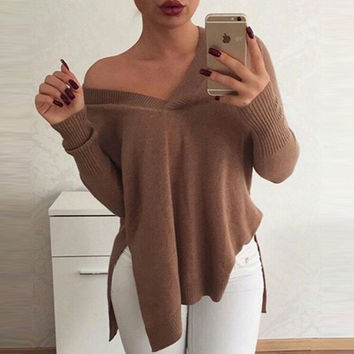 Asymmetrical Acrylic Sweater