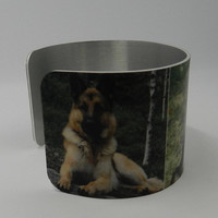 German Shepherd Cuff Bracelet K9  Cop Sublimated Cuff Bracelet  German Shepherd  Bracelet Gift