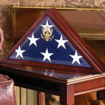 Flag Shadow Box, Large Coffin Flag Display Case Hand Made By Veterans