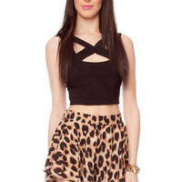 Play Flare Shorts in Leopard :: tobi