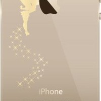 Disney Tinker Bell Clear Hard Case Cover Gold Color For iPhone 5/5s