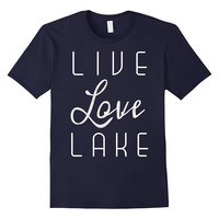 Live Love Lake Silver Texture Graphic T-Shirt