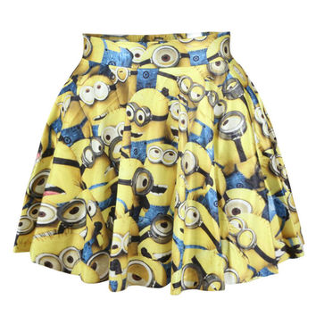 Women's Lovely Cartoon Printed Short Tutu Skirt