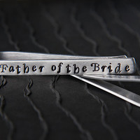 Father of the Bride Gift | Father of the Groom Gift | Engraved Gifts for Men | Custom Personalized Tie Bars by Micky Chase Jewelry