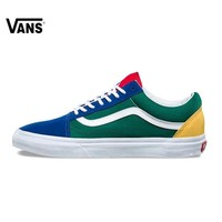 Vans Old Skool Original Skateboarding Shoes Outdoor Rainbow Retro Blue and Green Color for Men VN0A38G1R1Q 40-44