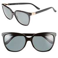 Women's Gucci 57mm Polarized Retro Sunglasses