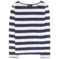 a.p.c. - cotton and linen-blend top